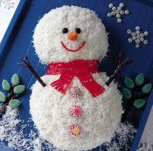 I Love Holiday Baking Snow Man Cake Recipe Kroger CBias