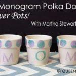 Mother's Day Etched Glass Coasters & Polka Dot Flower Pots #Craft! #MarthaStewartCrafts #mothersday