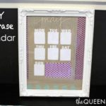 Closed-Silhouette Chipboard DIY Dry Erase Calendar Craft & #GIVEAWAY!