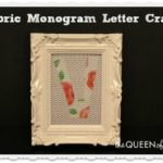 Monogram Fabric Letter Craft & May Silhouette Deals!
