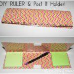 Duck Tape® Post It Holder & Ruler Craft! #DuckTapeAtWalmart