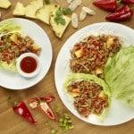 Yummy Sriracha Pineapple Pork Lettuce Wraps At Pei Wei!