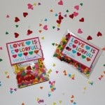 Colorful Confetti Heart Sprinkles & Candy Valentines! With Printable!