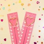 Cute DIY Heart Sparkler Valentines!