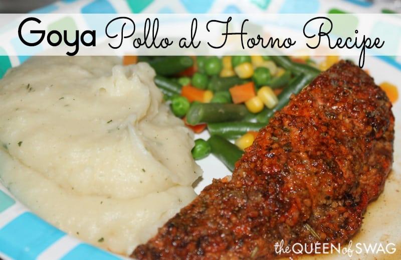 Goya pollo al horno aka baked chicken recipe a puerto rican favorite pollo al horno recipe forumfinder Image collections