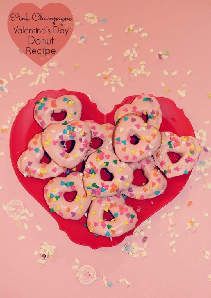Adorable Valentine S Day Pink Champagne Baked Donuts Recipe