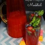 Tasty Raspberry Açaí Mojito Mocktail Recipe!