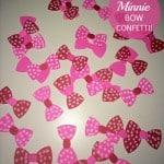 DIY Minnie Bow Confetti In Honor of Disney Minnie In Paris!