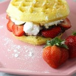 A Delish Strawberry S'mores Waffle Sandwich Recipe!