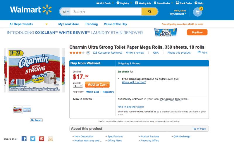 walmart.com-Paper Towels