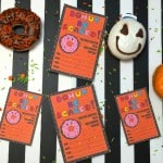 Donut Halloween Party Invites! Free Printable!
