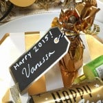 Easy DIY Mini Champagne Bubble Bottle New Years Dinner Place Cards!