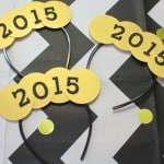 Easy DIY Giant Gold Confetti New Years Headband!