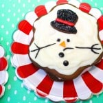 Gingerbread Melted Snowman Ice Cream Sandwiches Recipe!