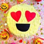 DIY Valentine's Day Emoji Piñata Gift Box!