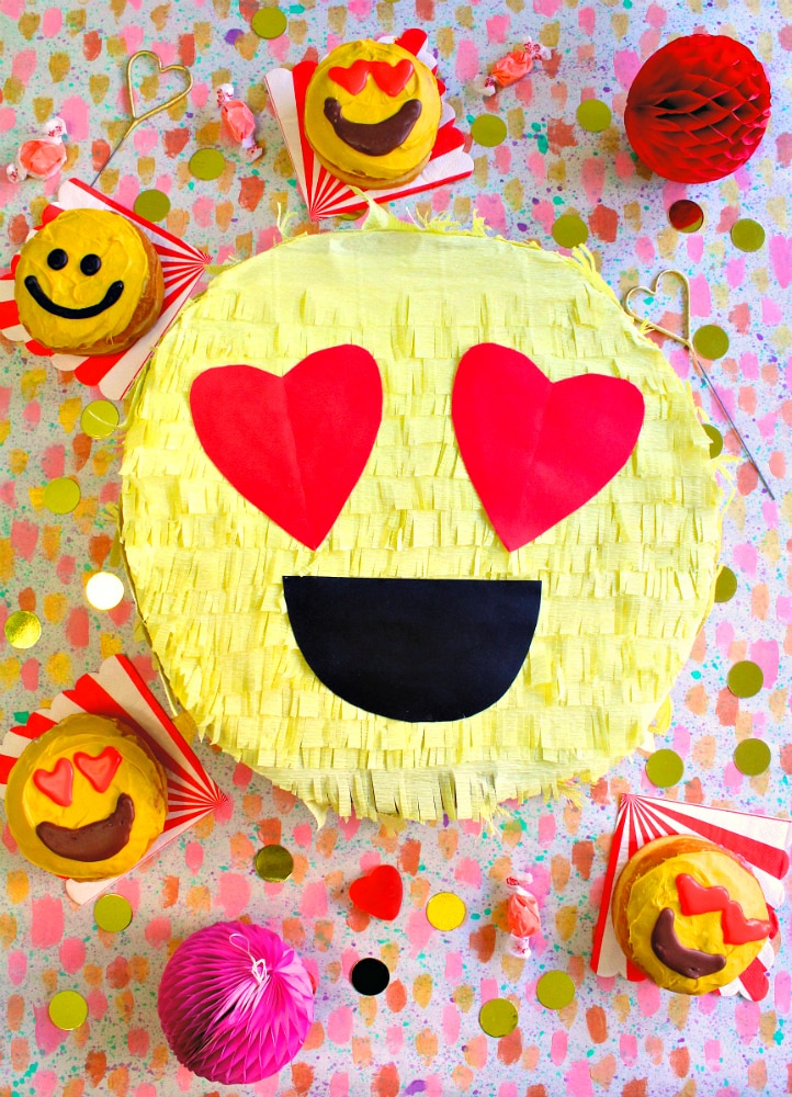 Diy Valentine S Day Emoji Pinata Gift Box