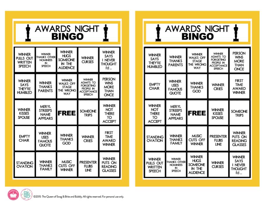 AwardsNightBingoBoardspdf2
