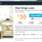 HOT DEAL! LIVINGSOCIAL $35 FOR $70 ONE KINGS LANE!