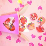 DIY Valentine's Day Chocolate Dipped Fortune Cookies!
