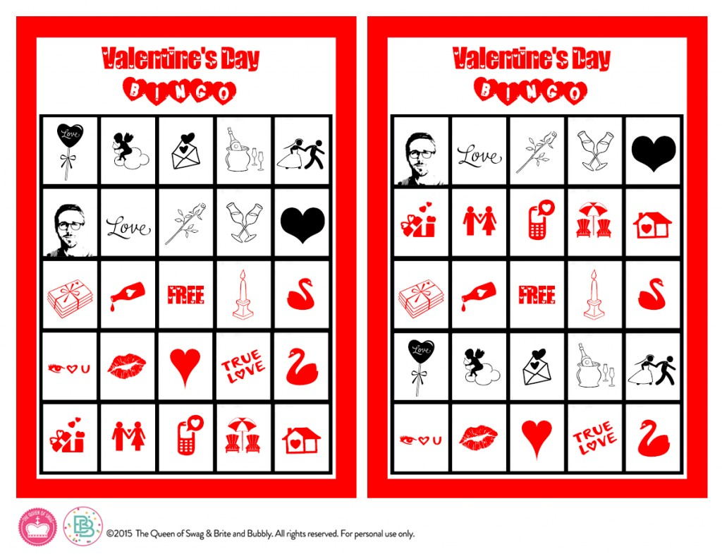 Cute Valentines Day Bingo Free Printable – Valentines Day Bingo Cards