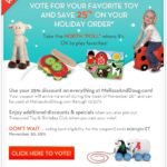 "Take the North ""Poll"" and Save 25% at MelissaAndDoug.com!"