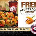 SWAG ALERT! #FREE Peppercorn Shrimp at Panda Express! Valid Only 2/22!