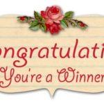 Winners, Winners, well 4 Winners! #Winners #Giveaway