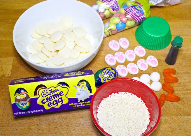 Cadbury-Creme-Egg-Candy-Bunny-Cupcakes-Supplies
