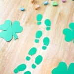 DIY Leprechaun Footprints!