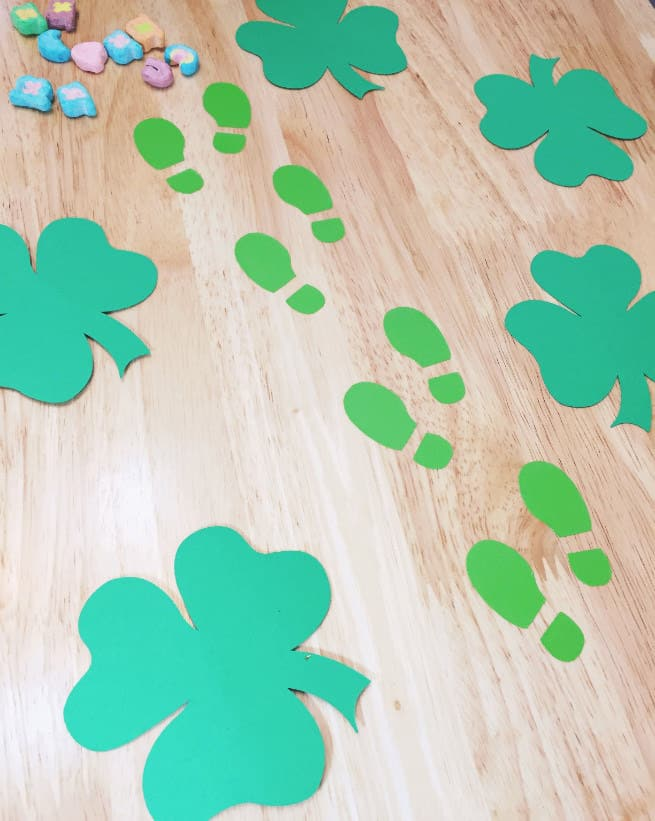 picture about Leprechaun Feet Printable called Do-it-yourself Leprechaun Footprints! ⋆ Brite and Bubbly