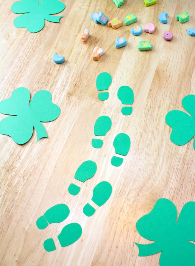graphic relating to Leprechaun Feet Printable identify Do-it-yourself Leprechaun Footprints! ⋆ Brite and Bubbly