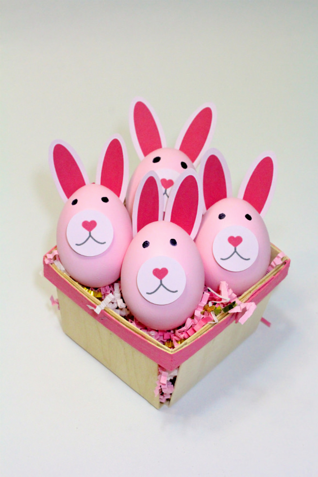 DIY-Pink-Easter-Bunny-Eggs-Basket