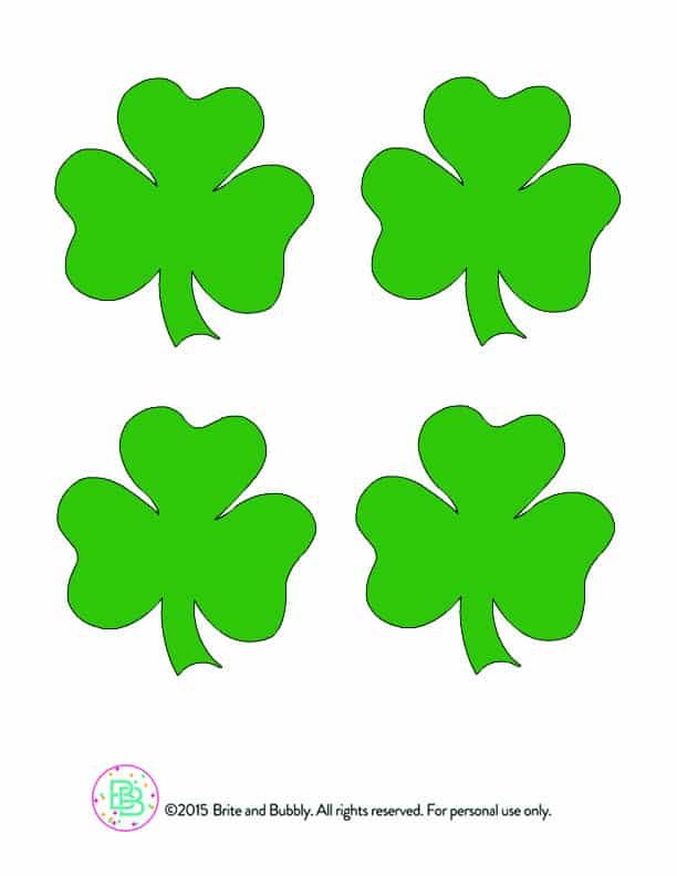 photograph about Printable Shamrock Images referred to as Do-it-yourself Printable Large Shamrock Confetti! ⋆ Brite and Bubbly