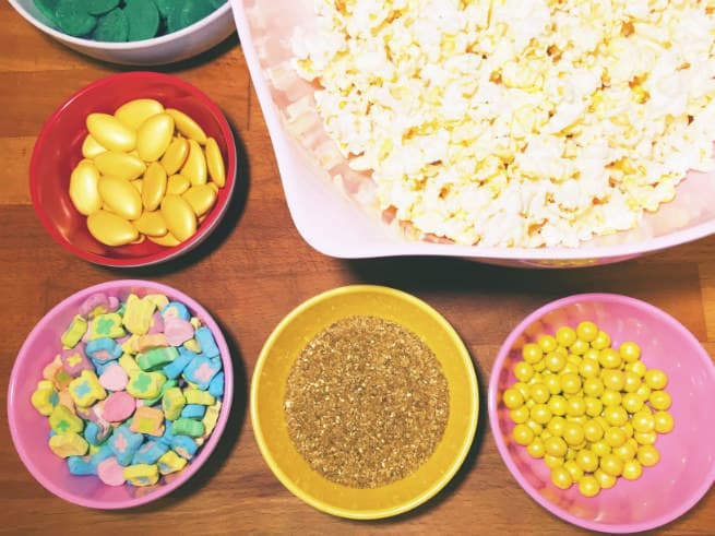 Saint-Patricks-Day-Leprechaun- Popcorn-Ingredients