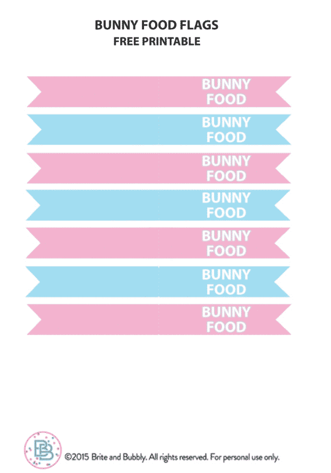 Bunny-Food-Flags-Printable