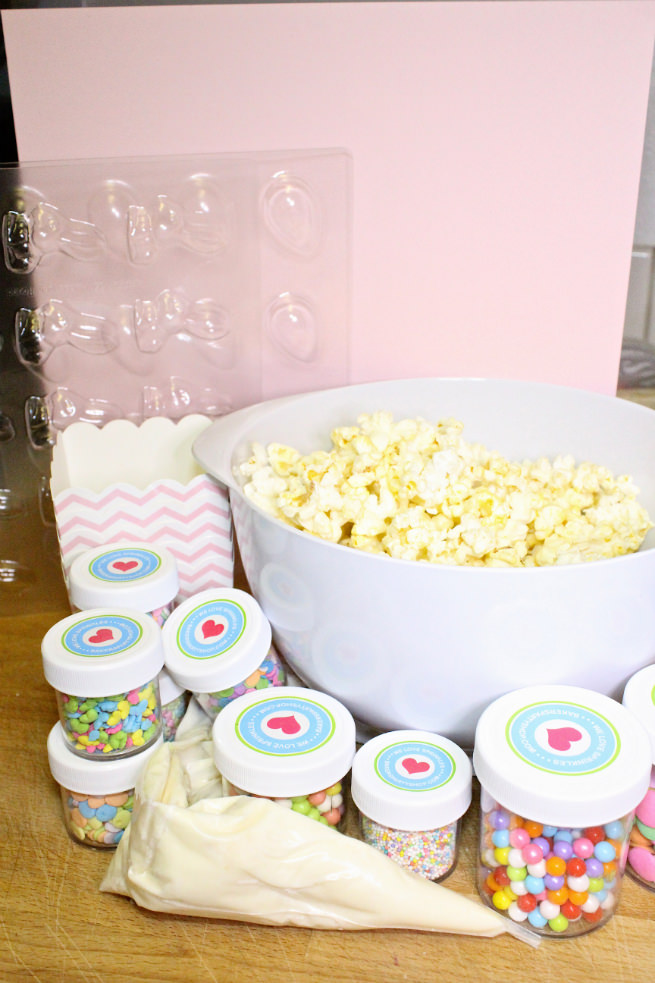 DIY-Mini-Easter Basket-Popcorn-Bunny-Food-Supplies