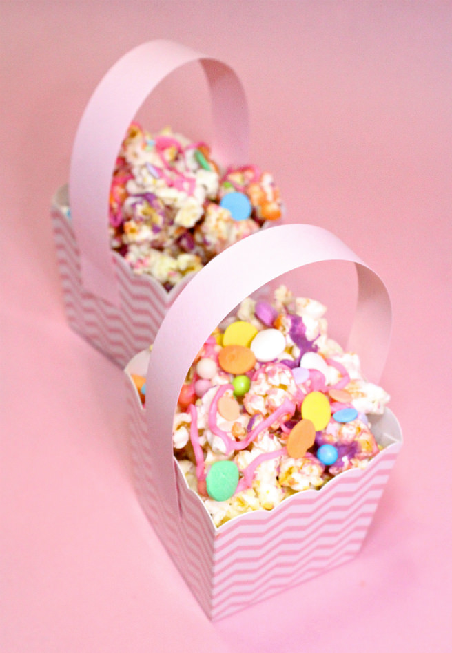 DIY-Mini-Easter Basket-Popcorn-Bunny-Food-basket-Step-1