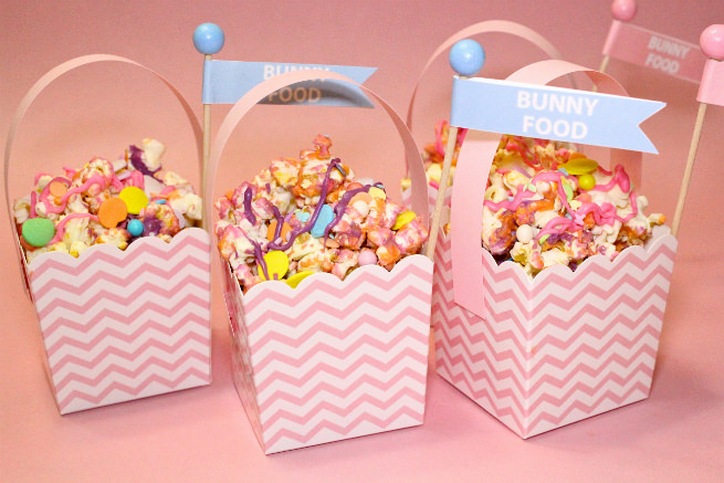 DIY-Mini-Easter Basket-Popcorn-Bunny-Food-basket