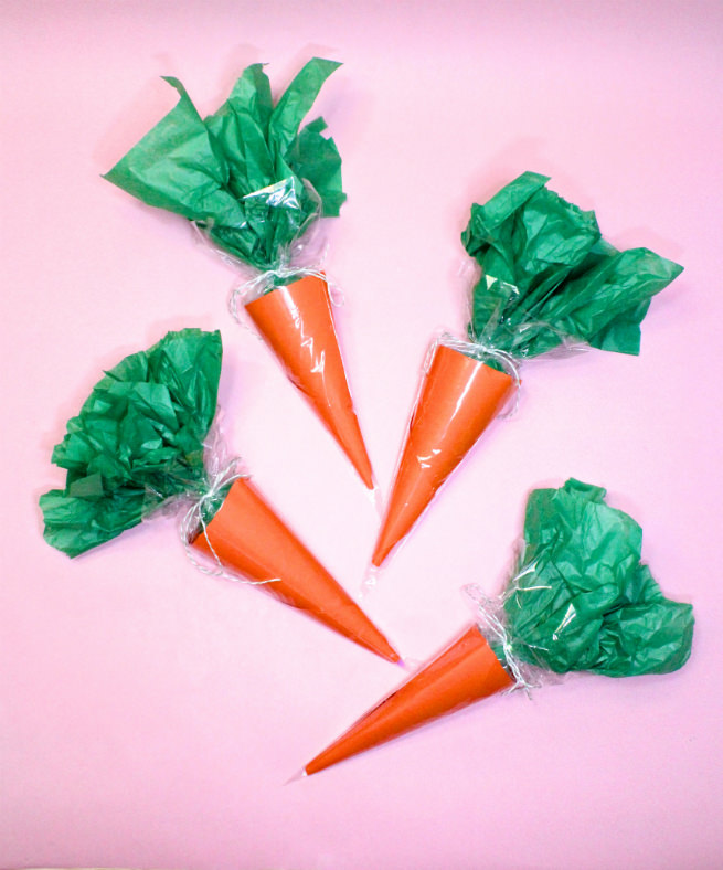 diy easter carrot candy favor bags brite and bubbly