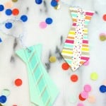 DIY Washi Tape Neck Tie Father's Day Gift Tags!