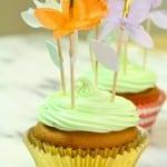 Dulce de Leche Surprise Flower Topped Cupcakes Recipe!