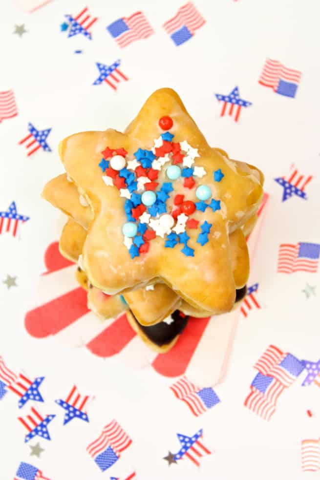 DIY-July-Fourth Star-Doughnuts-donuts-Stack-2