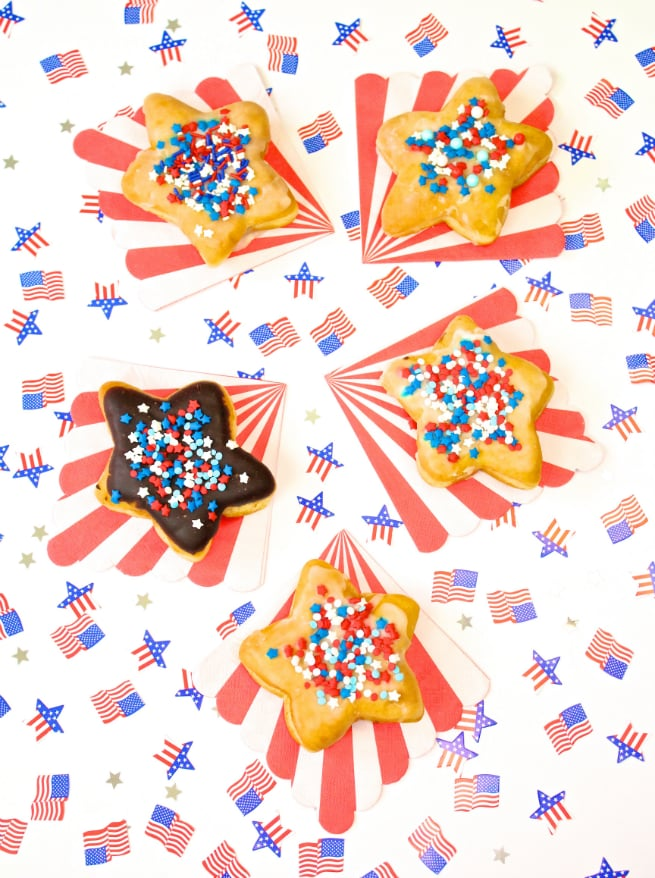 DIY-July-Fourth Star-Doughnuts-donuts
