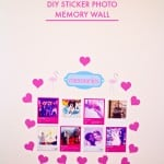 A DIY Sticker Photo Memory Wall Made With My HP Instant Ink!