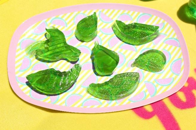 Lime-JELL-O Fruit Juice Snacks