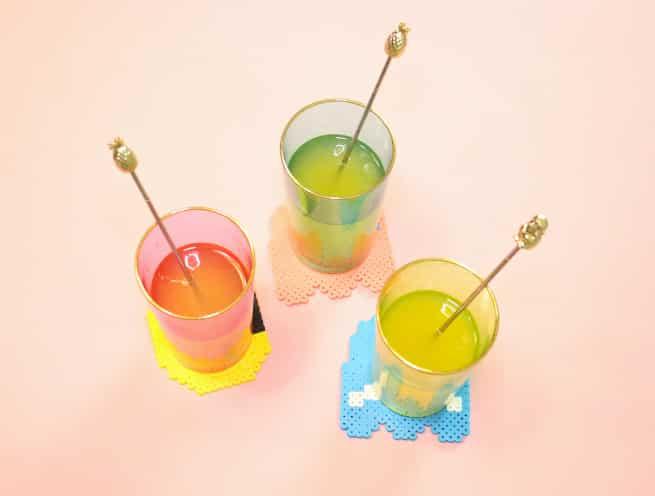 PIXELS-Movie-Inspired- Coasters-Drinks