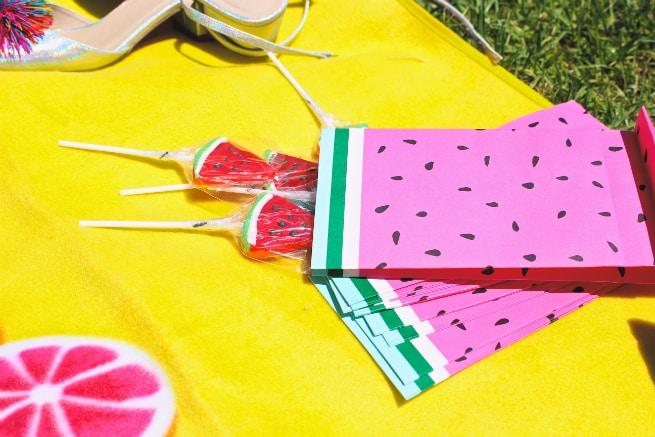 Watermelon-lollipops