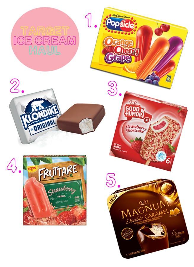 target-icecream-haul-collage
