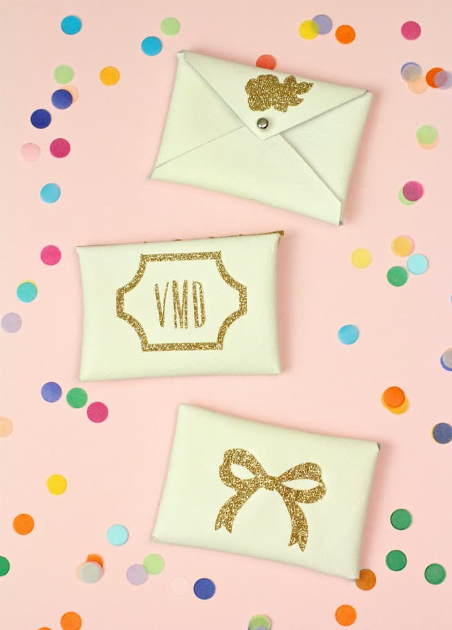 Diy gold glitter monogram business card holders brite and bubbly diy gold glitter monogram business card holder reheart Image collections