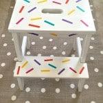 DIY Sprinkle Covered Ikea Step Stool!
